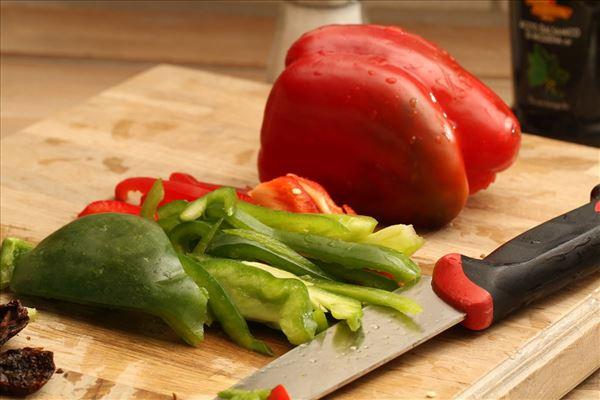 Rejeret med soltørrede tomater