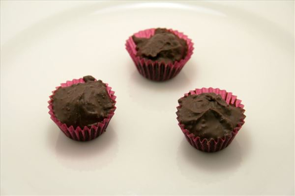 Chokolade-nougat konfekt med Kahlua