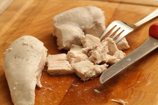 Kyllingesalat med nudler