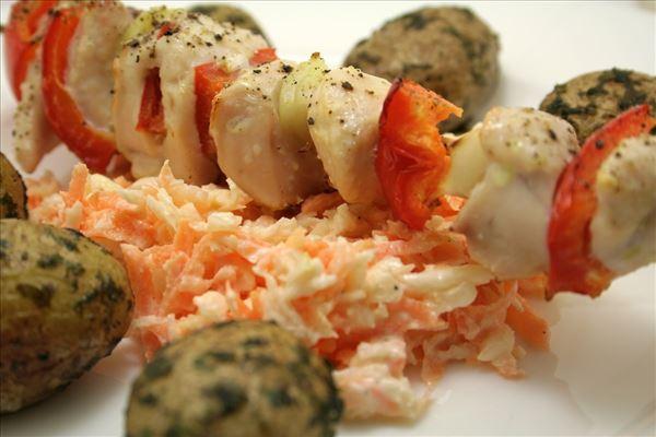 Kylling med coleslaw