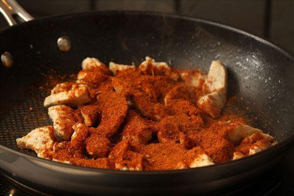 Mexicanske wraps med kylling