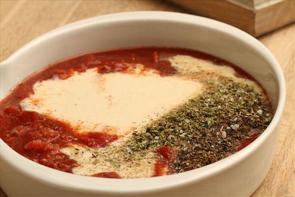 Kalkunfilet i tomat-ostesauce