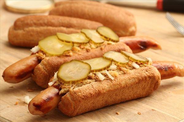 Ristede hotdogs