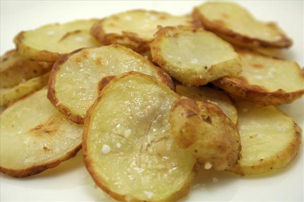 Ovnstegte kartoffelskiver