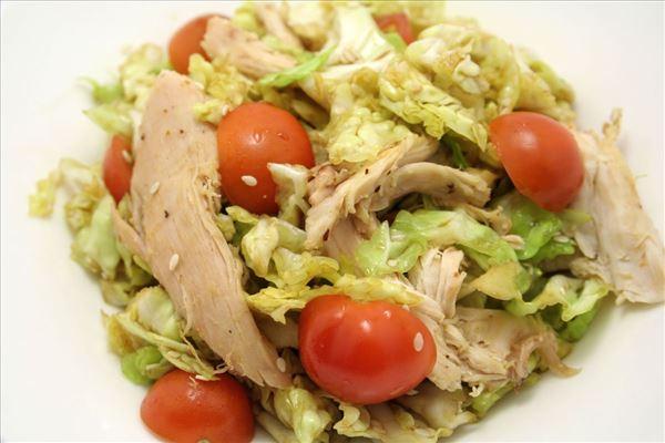 Savoykålssalat med kylling