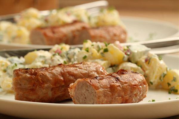 Kartoffelsalat med medisterpølse