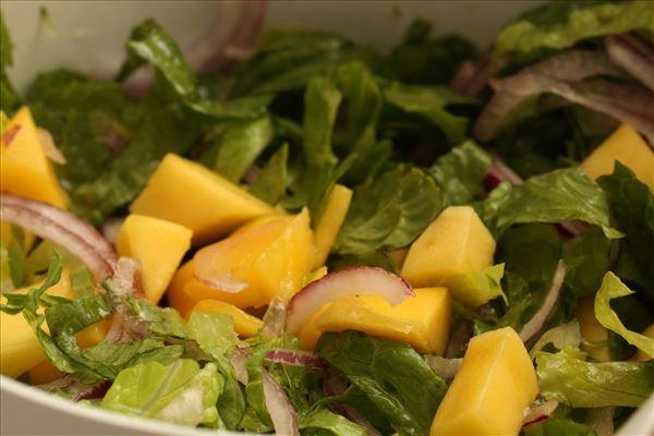 Fyldt kyllingebryst med mangosalat