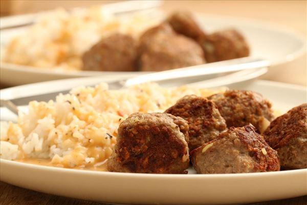 Italienske kødboller med ris