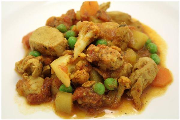 kyllingebryst med indisk karry