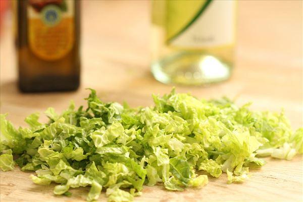 Salat med olie/eddike dressing
