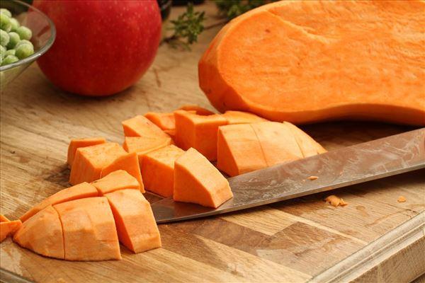 Søde kartofler med kalkun og spidskål