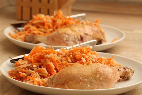 Kylling på dåse med eftersårs-råkost
