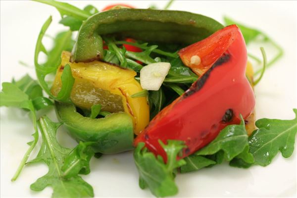 Rucolasalat med peberfrugt
