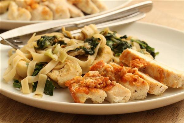 Parmesankylling med frisk pasta