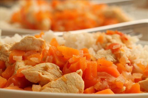 Chiligryde med kylling og ris