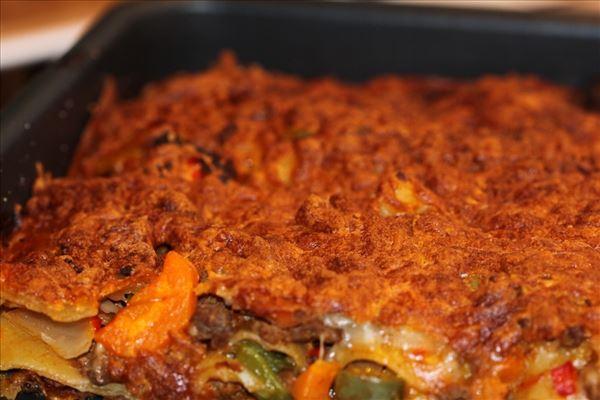 Lækker lasagne med grønsager