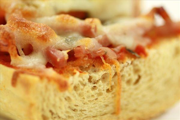 Minipizza på flute til madpakker