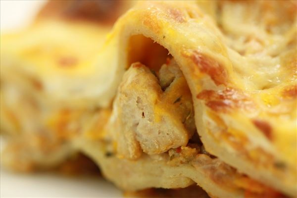Kyllingelasagne med squash og gulerod