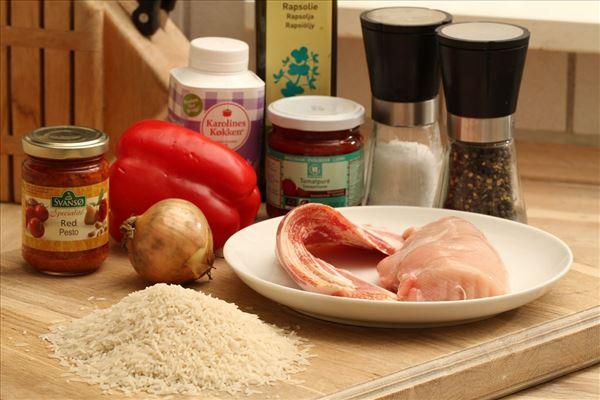 Lavagryde med kylling og bacon