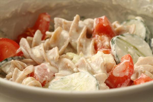 Græsk pastasalat med feta
