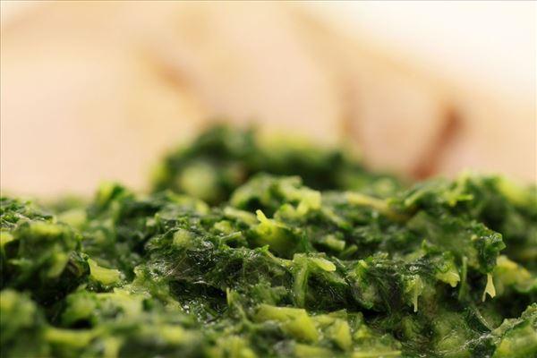 Glaseret skinke med grønlangkål