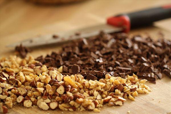 Nødde-chokoladekage