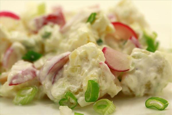 Kartoffelsalat med radiser og forårsløg