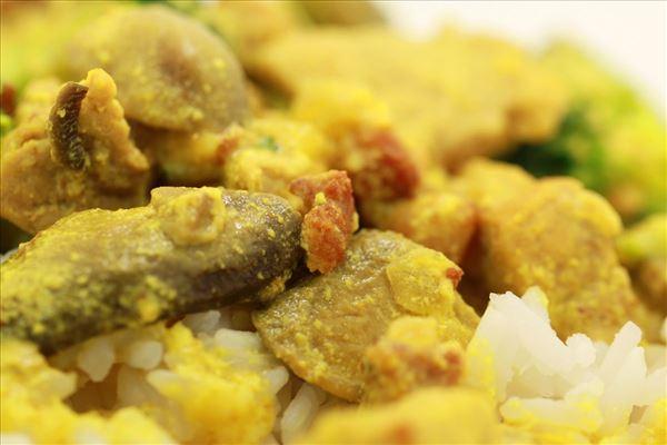 Karrygryde med ris og bacon