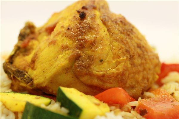 Kylling i kokos med ris