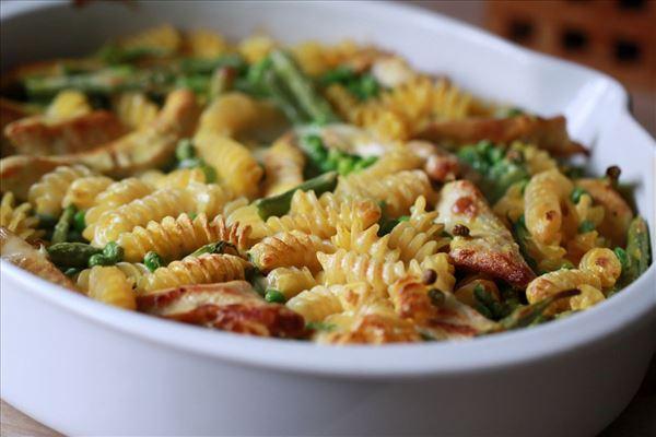 Let og lækker kalkunfad med pasta