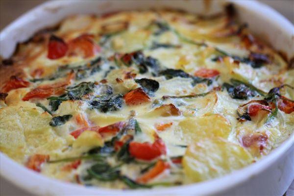 Æggekage med grøntsager