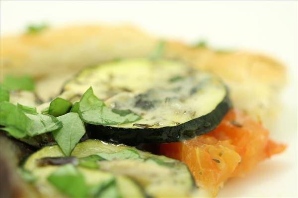 Vegetarpizza med gorgonzola