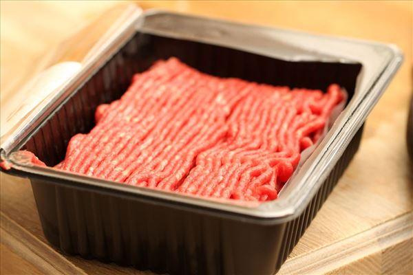 Bagt kartoffelmos med karry og oksekød