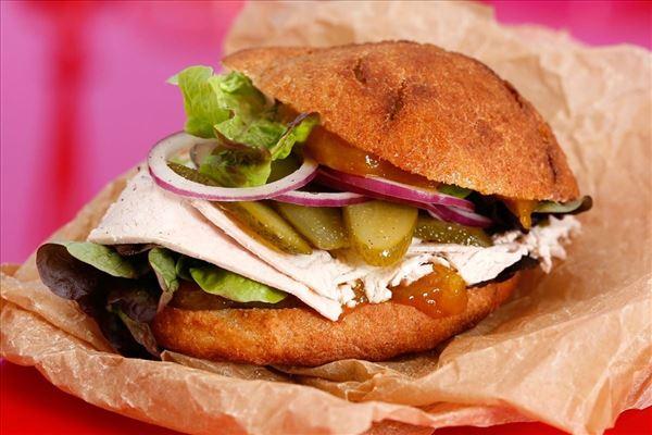 Wild turkey sandwich