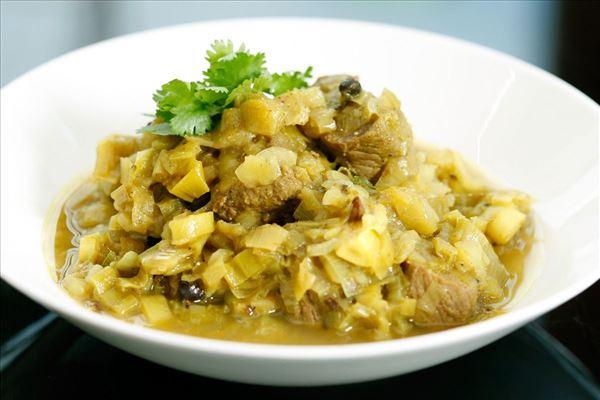 Lammecurry med ris