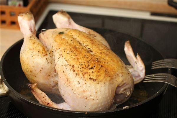 Gammeldags stegt kylling