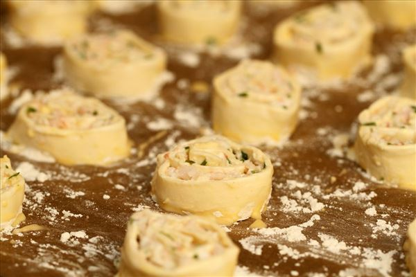 Butterdejs-hapsere med rejer