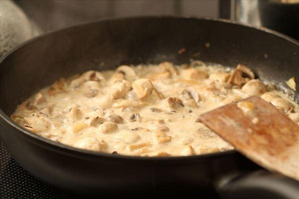 Rosmarinkylling i hvidvinssauce med pasta