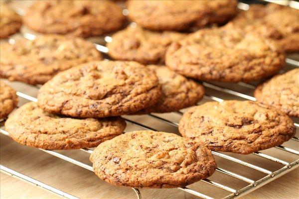 Amerikanske cookies med chokoladestykker
