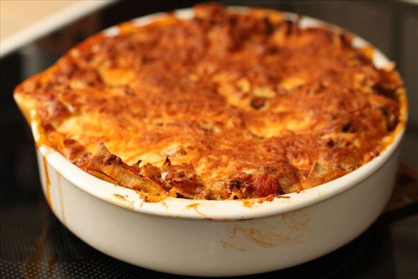 Rodfrugt lasagne
