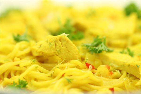 Kyllingesuppe Laksa (Thai-suppe)