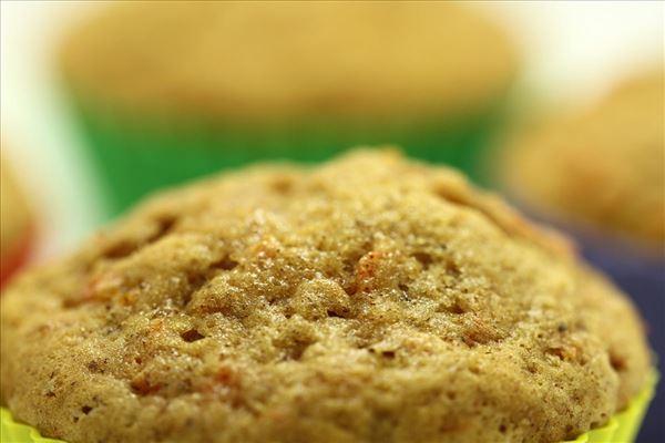 Gulerodsmuffins med kanel
