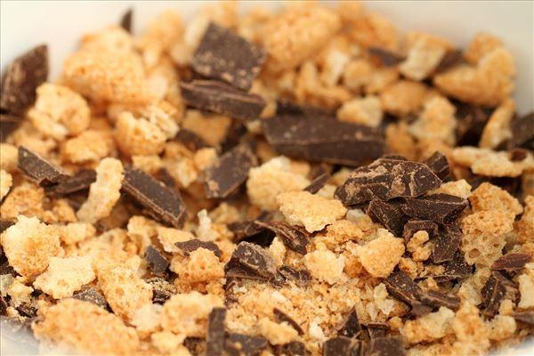 Makronmuffins med mørk chkolade