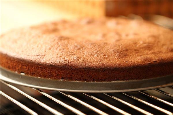Lagkagebund af speltmel med mørk chokolade