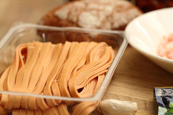 Pasta med rejer og kapers