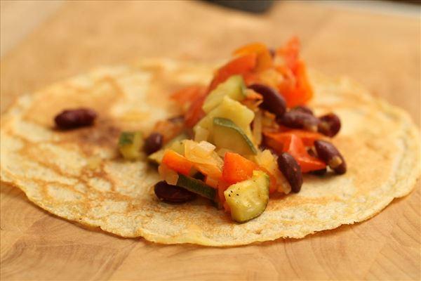 Enchilada med grønsagsfyld