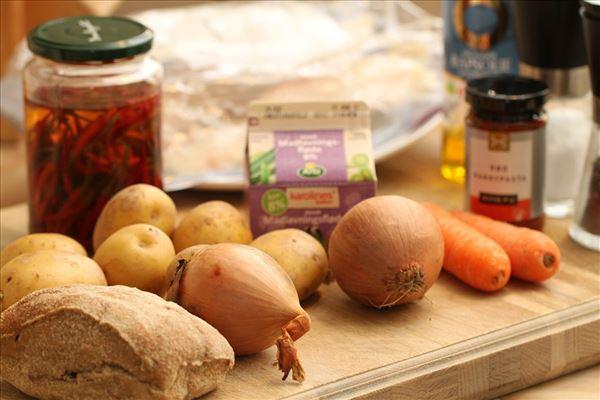 Chilitorsk med flødekartofler