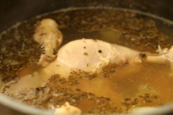 Nudelsuppe med kylling og krydderurter