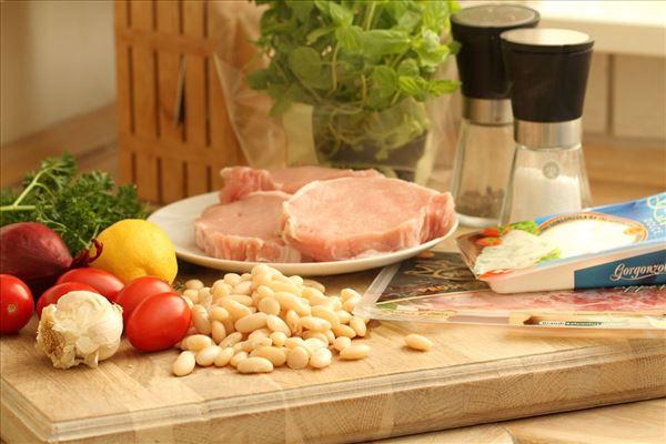 Koteletter i pakker med gorgonzola