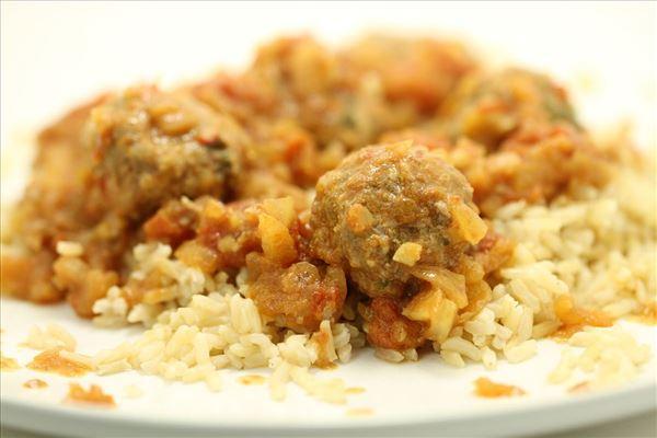 Egyptiske kødboller med ris